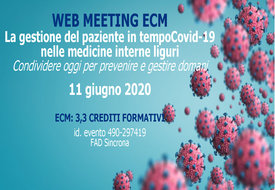 Course Image La gestione del paziente in tempo Covid-19 nelle medicine interne liguri - Condividere oggi per prevenire e gestire domani