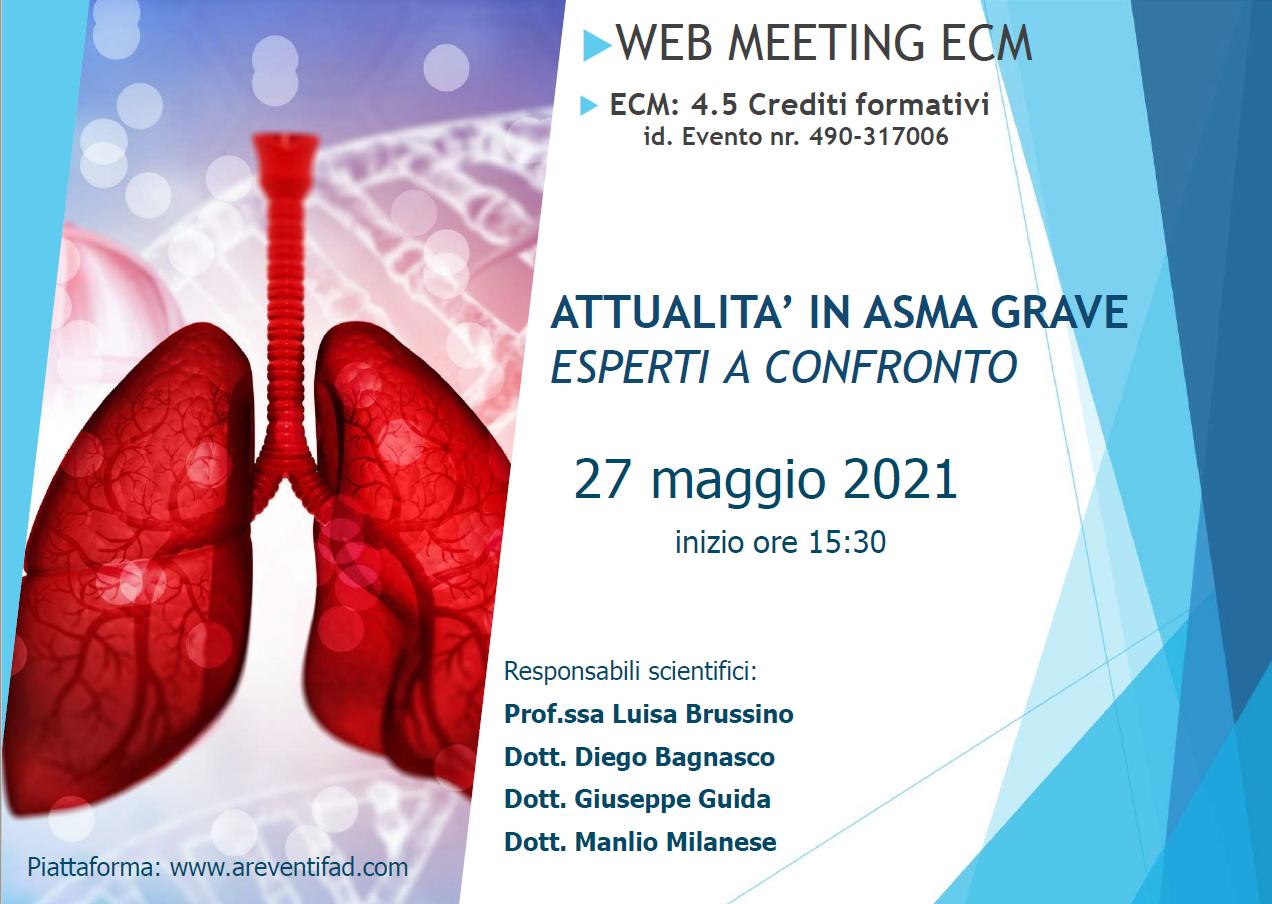 Course Image ATTUALITA' IN ASMA GRAVE - ESPERTI A CONFRONTO