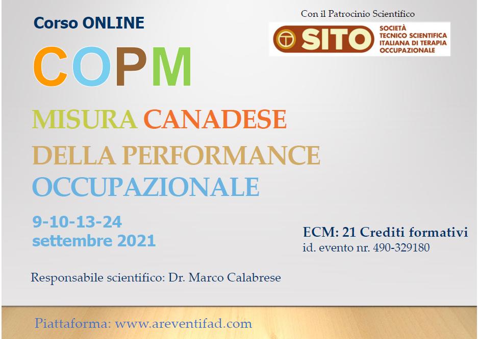 Course Image COPM- MISURA CANADESE DELLA PERFORMANCE OCCUPAZIONALE