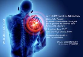 Course Image Artropatia Degenerativa della spalla: Razionale conservativo e chirurgico per la gestione del dolore e della funzionalità articolare
