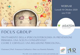 Course Image FOCUS GROUP Trattamento della ipercolesterolemia in prevenzione primaria: una scelta consapevole! Cuore e Cervello: una relazione pericolosa...