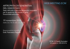Course Image ARTROPATIA DEGENERATIVA DEL GINOCCHIO: Stato dell'arte e percorsi terapeutici innovativi per la gestione del dolore e della funzionalità articolare